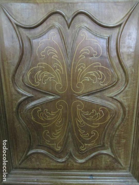 Antigüedades: Antiguo Armario Catalán, Barroco - Armario Empotrado - Puertas y Marco - Madera Nogal - Año 1768 - Foto 12 - 153012338