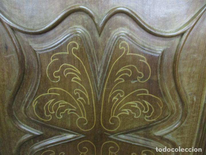 Antigüedades: Antiguo Armario Catalán, Barroco - Armario Empotrado - Puertas y Marco - Madera Nogal - Año 1768 - Foto 13 - 153012338