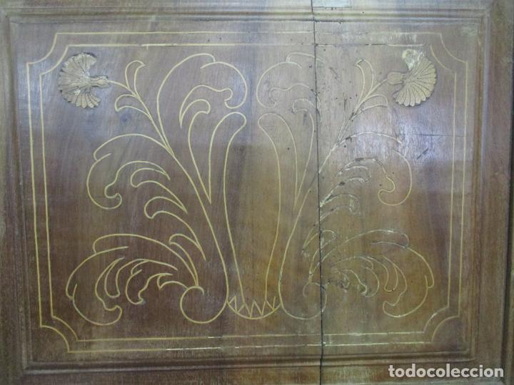 Antigüedades: Antiguo Armario Catalán, Barroco - Armario Empotrado - Puertas y Marco - Madera Nogal - Año 1768 - Foto 16 - 153012338