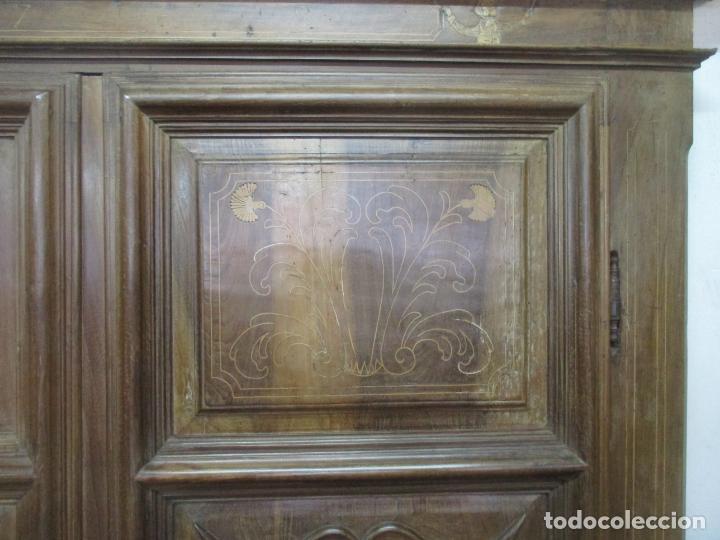 Antigüedades: Antiguo Armario Catalán, Barroco - Armario Empotrado - Puertas y Marco - Madera Nogal - Año 1768 - Foto 18 - 153012338