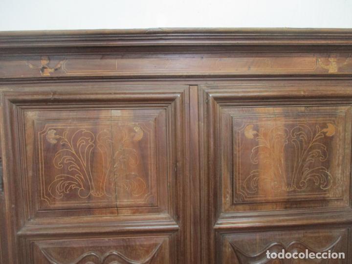 Antigüedades: Antiguo Armario Catalán, Barroco - Armario Empotrado - Puertas y Marco - Madera Nogal - Año 1768 - Foto 21 - 153012338