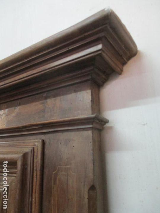 Antigüedades: Antiguo Armario Catalán, Barroco - Armario Empotrado - Puertas y Marco - Madera Nogal - Año 1768 - Foto 23 - 153012338