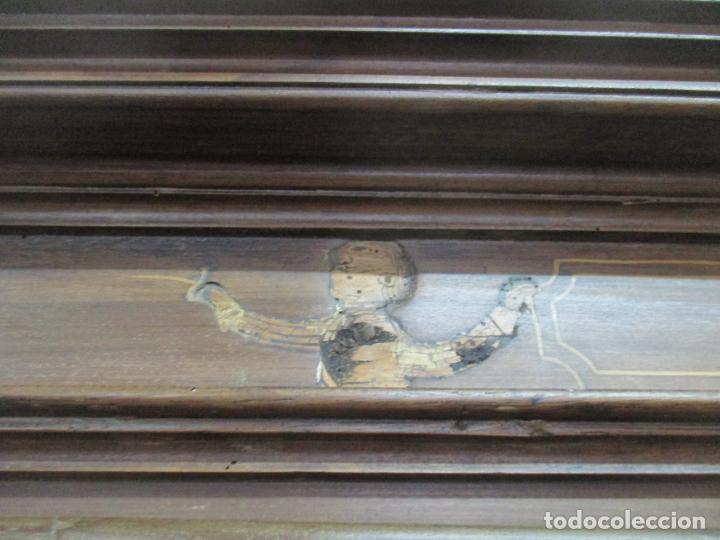 Antigüedades: Antiguo Armario Catalán, Barroco - Armario Empotrado - Puertas y Marco - Madera Nogal - Año 1768 - Foto 27 - 153012338