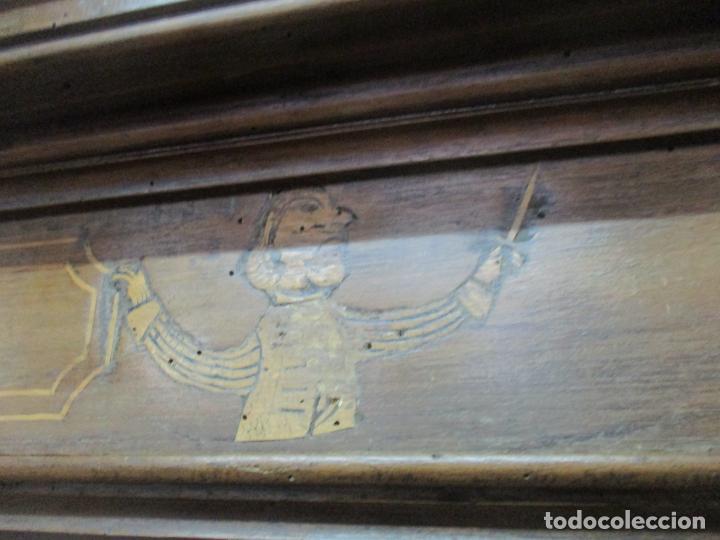 Antigüedades: Antiguo Armario Catalán, Barroco - Armario Empotrado - Puertas y Marco - Madera Nogal - Año 1768 - Foto 29 - 153012338