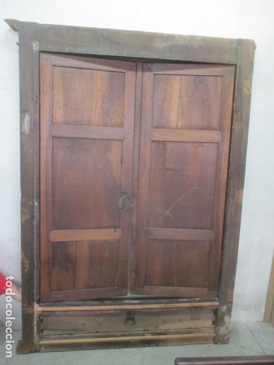 Antigüedades: Antiguo Armario Catalán, Barroco - Armario Empotrado - Puertas y Marco - Madera Nogal - Año 1768 - Foto 31 - 153012338