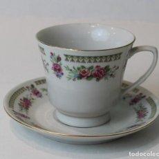 Antigüedades: UNA TAZA DE CAFÉ CON SU PLATO A JUEGO,PORCELANA CHINA.. Lote 153032918