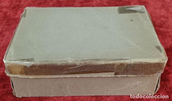 Antigüedades: NECESER DE VIAJE PARA CABALLERO IBERIA. COMPLETO. ACERO INOXIDABLE Y PIEL. CIRCA 1950. - Foto 4 - 153049318