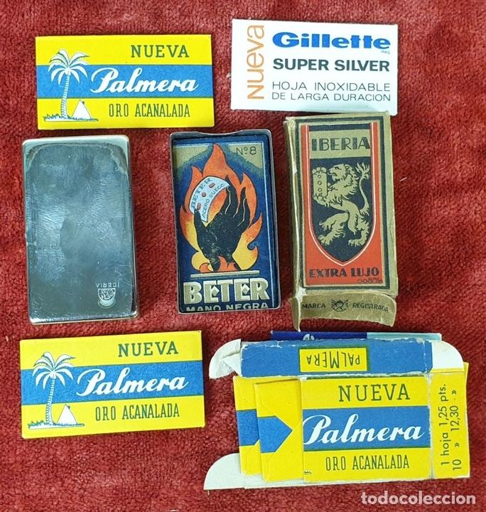Antigüedades: NECESER DE VIAJE PARA CABALLERO IBERIA. COMPLETO. ACERO INOXIDABLE Y PIEL. CIRCA 1950. - Foto 5 - 153049318