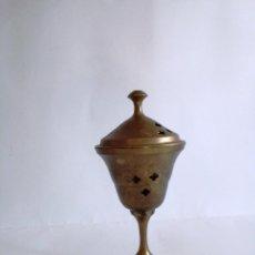 Antigüedades: INCENSARIO DE LATÓN AÑOS 60. Lote 153071266