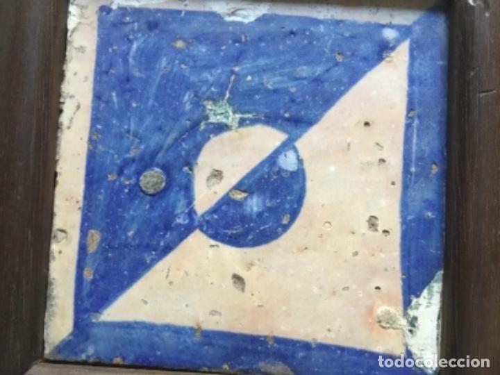 Antigüedades: Azulejo gotico valenciano enmarcado - Foto 2 - 153073538