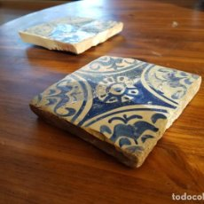 Antigüedades: 2 AZULEJOS GOTICOS MANISES S XV. Lote 153088150