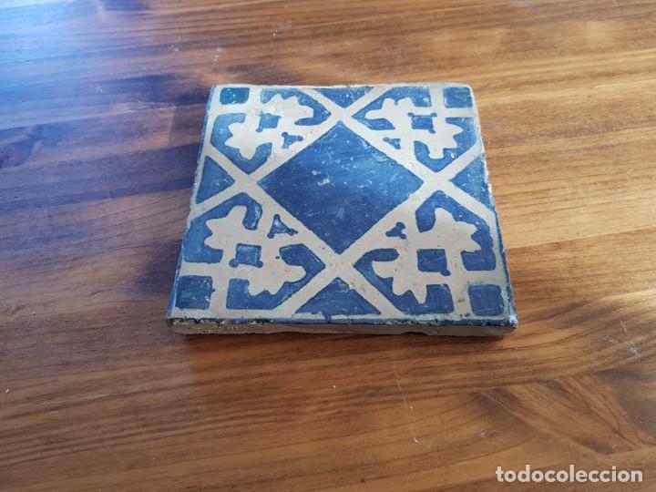 AZULEJO O BALDOSA GOTICA RAJOLA (Antigüedades - Porcelanas y Cerámicas - Azulejos)