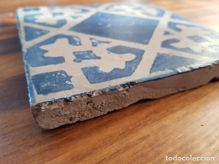 Antigüedades: Azulejo o baldosa gotica rajola - Foto 2 - 153088738