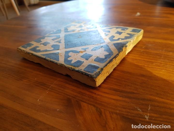 Antigüedades: Azulejo o baldosa gotica rajola - Foto 3 - 153088738