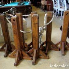 Antigüedades: BASES RUSTICAS PARA ACORDONAR , PIES, ESTACAS,. Lote 153102158