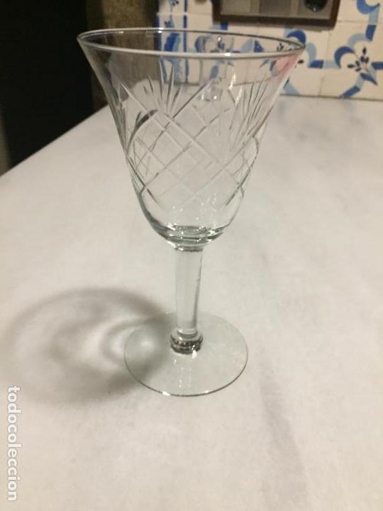 Antigüedades: Antiguas 6 copa / copas de cristal tallado a mano de los años 30-40 - Foto 14 - 147632730