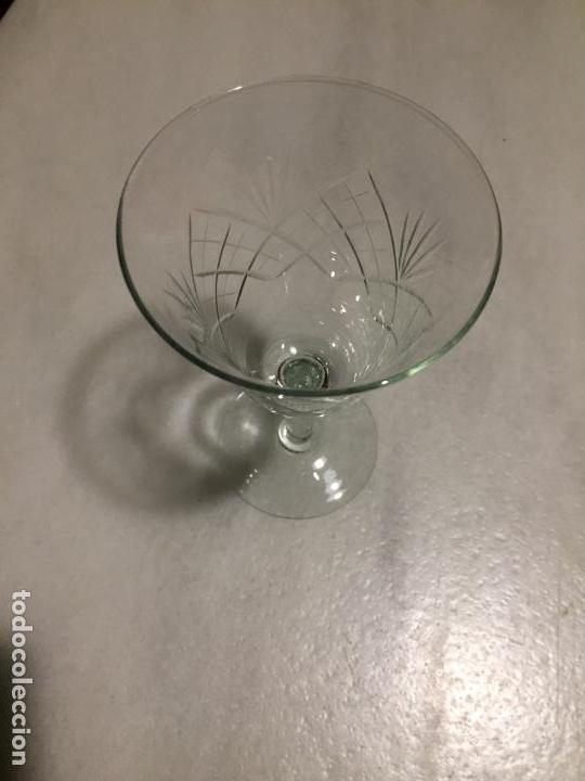 Antigüedades: Antiguas 6 copa / copas de cristal tallado a mano de los años 30-40 - Foto 15 - 147632730