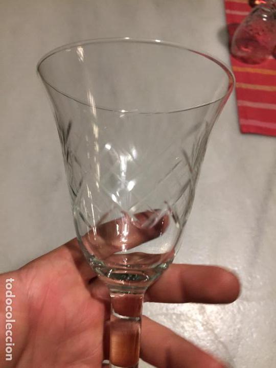 Antigüedades: Antiguas 6 copa / copas de cristal tallado a mano de los años 30-40 - Foto 16 - 147632730