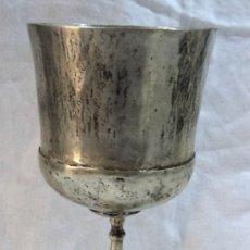 Antigüedades: ANTIGUO CALIZ DE PLATA BAJA MIDE 19 CM DE ALTO PESA 282 GRAMOS COLONIAL ORIGINAL JESUITA. Lote 153149822