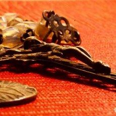Antigüedades: GRAN ROSARIO , MUY ANTIGUO, CON SEIS MEDALLAS. Lote 153155602