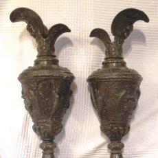 Antigüedades: PAREJA DE JARRAS .ESCUDO USA Y ESTATUA LIBERTAD.ESTADOS UNIDOS, MODERNISTA. JARRON.ART. Lote 127268339