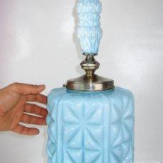 Antigüedades: ESPECTACULAR GRAN LAMPARA MODERNISTA DE DOBLE OPALINA AZUL CIRCA 1920. Lote 153175014