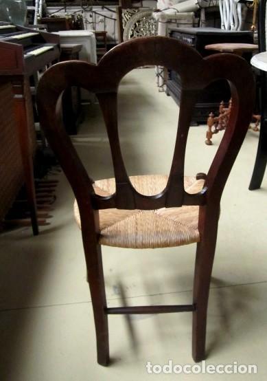 Antigüedades: 6 sillas isabelinas rusticas antiguas, DE NOGAL - Foto 5 - 153184798