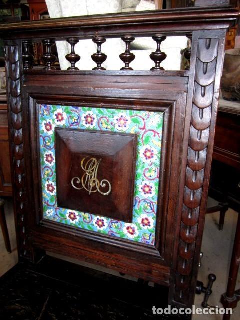 Antigüedades: Silleria antigua de 8 sillas en madera de nogal - Foto 5 - 153185242