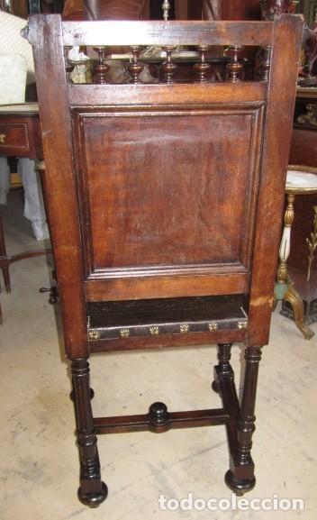 Antigüedades: Silleria antigua de 8 sillas en madera de nogal - Foto 9 - 153185242