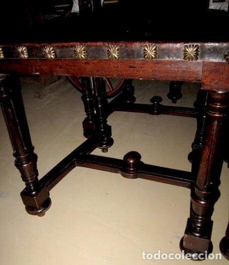 Antigüedades: Silleria antigua de 8 sillas en madera de nogal - Foto 17 - 153185242