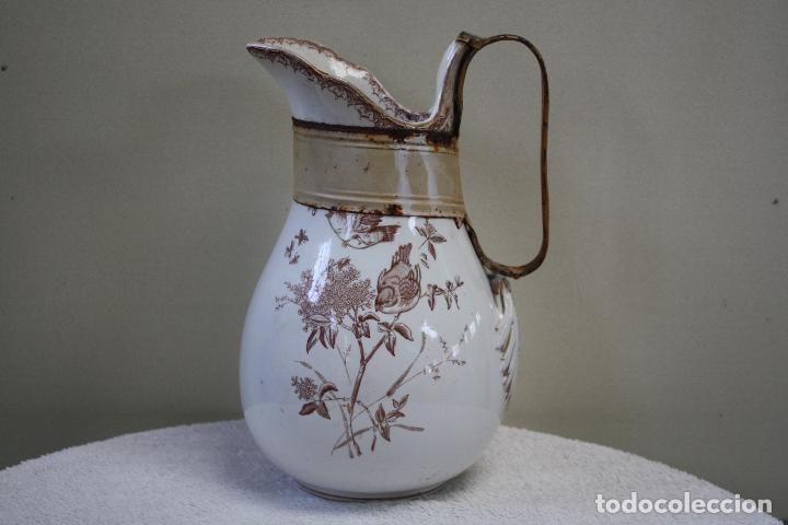 Antigüedades: GRAN JARRA DE PICMAN Y CÍA. SELLO EN BASE. ALTURA: 31.5 CMS. - Foto 2 - 153199838