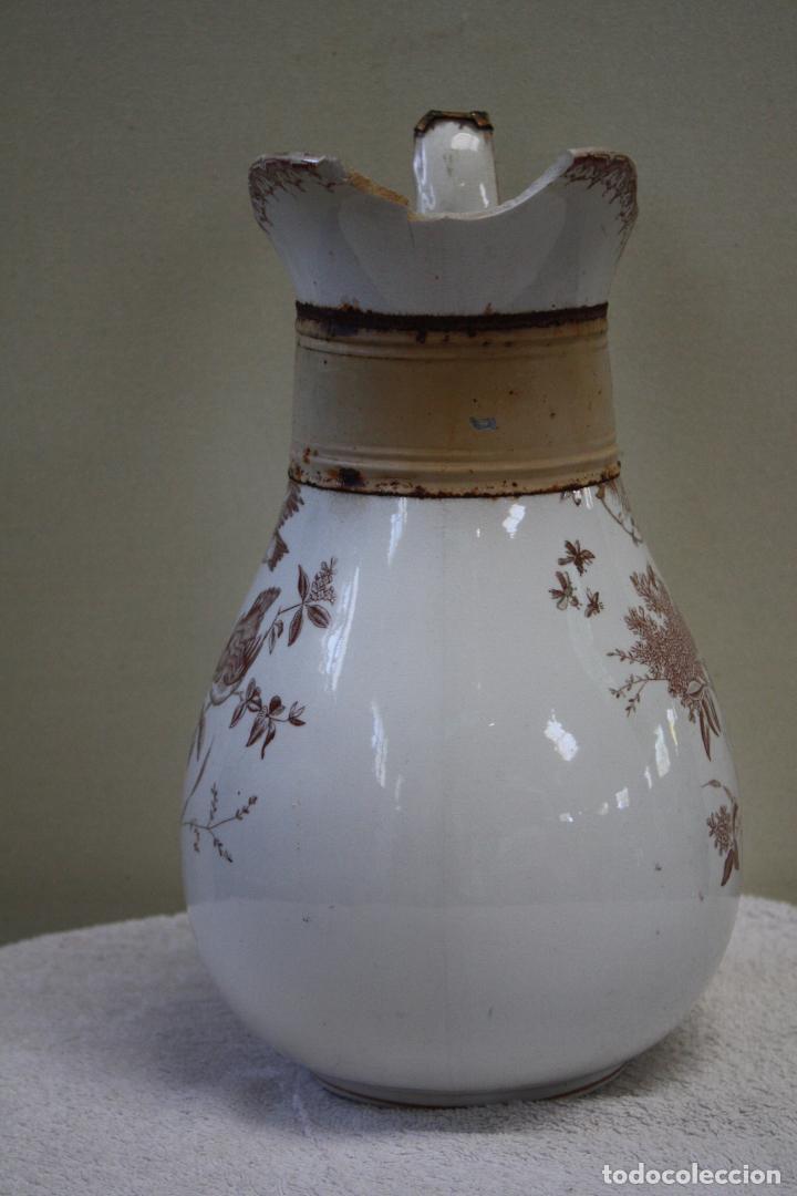 Antigüedades: GRAN JARRA DE PICMAN Y CÍA. SELLO EN BASE. ALTURA: 31.5 CMS. - Foto 4 - 153199838