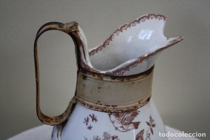 Antigüedades: GRAN JARRA DE PICMAN Y CÍA. SELLO EN BASE. ALTURA: 31.5 CMS. - Foto 7 - 153199838