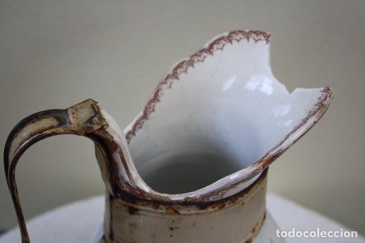 Antigüedades: GRAN JARRA DE PICMAN Y CÍA. SELLO EN BASE. ALTURA: 31.5 CMS. - Foto 8 - 153199838
