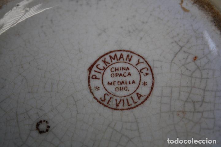 Antigüedades: GRAN JARRA DE PICMAN Y CÍA. SELLO EN BASE. ALTURA: 31.5 CMS. - Foto 10 - 153199838