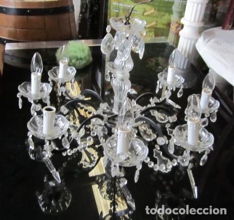 Antigüedades: Lampara de techo de cristal con lagrimas - Foto 3 - 153222194