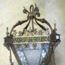 Antigüedades: FAROL ANTIGUO DE BRONCE SXIX . Lote 153222662