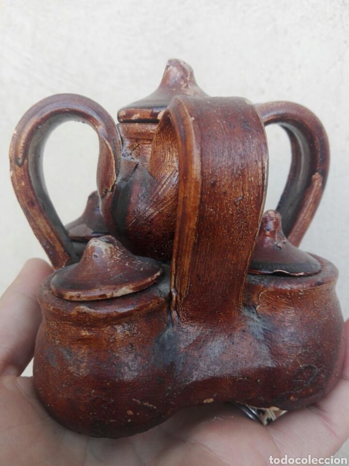 Antigüedades: Antigua ceramica de Aledo Murcia especiero de barro. - Foto 2 - 153227357