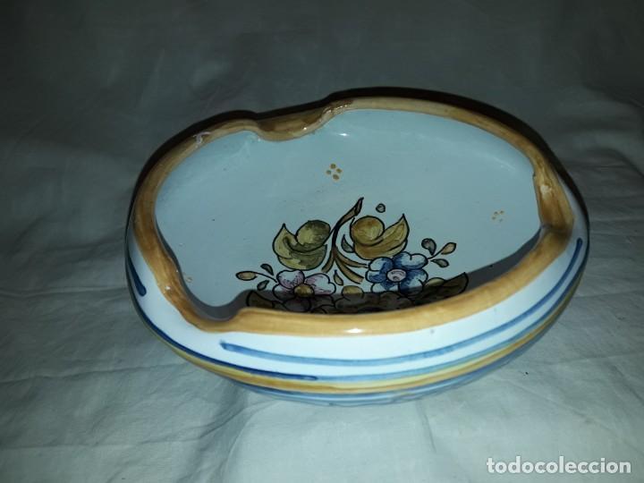 PRECIOSO ANTIGUO CENICERO CERÁMICA TALAVERA (Antigüedades - Porcelanas y Cerámicas - Talavera)