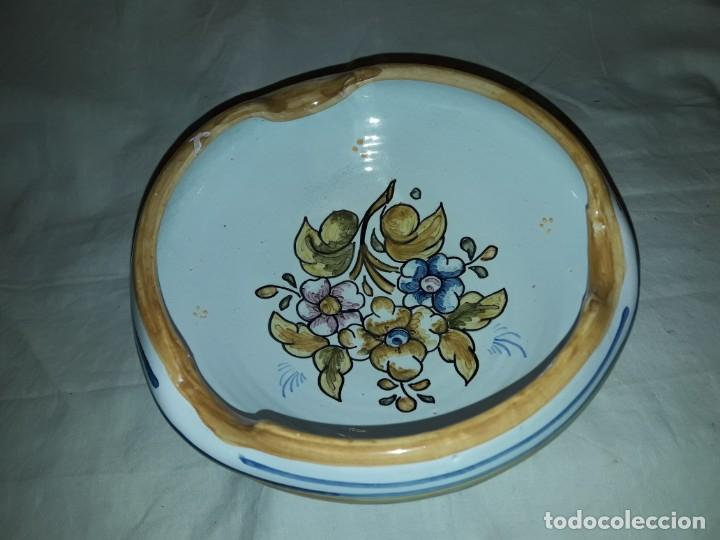 Antigüedades: Precioso antiguo cenicero cerámica talavera - Foto 2 - 153227598