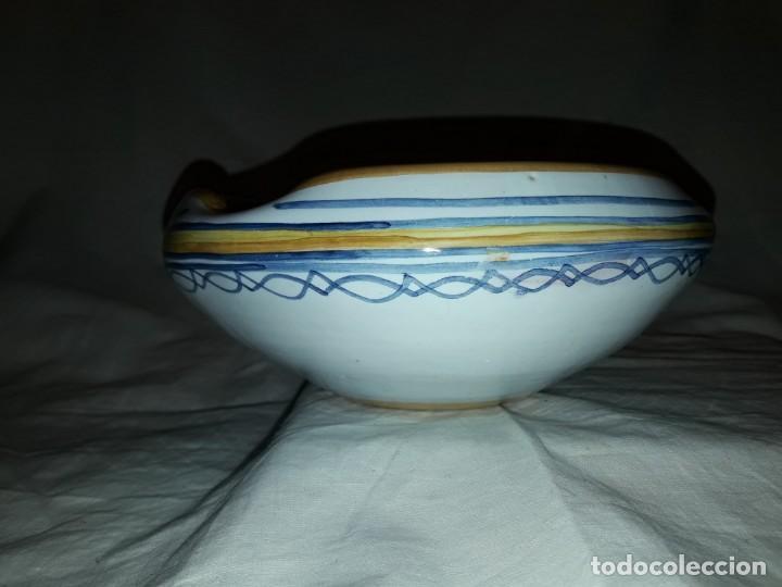 Antigüedades: Precioso antiguo cenicero cerámica talavera - Foto 3 - 153227598