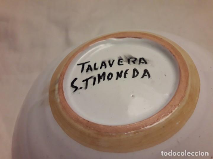Antigüedades: Precioso antiguo cenicero cerámica talavera - Foto 6 - 153227598