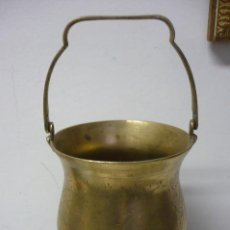 Antigüedades: JARRON GRAVADO DE METAL. Lote 153233466