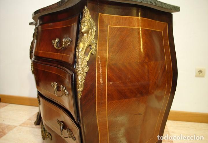 Antigüedades: CÓMODA ANTIGUA LUIS XV MARQUETERÍA Y BRONCES - Foto 12 - 153239842