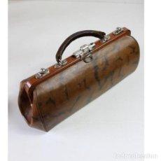 Antigüedades - Antiguo bolso de médico de piel - 153243150