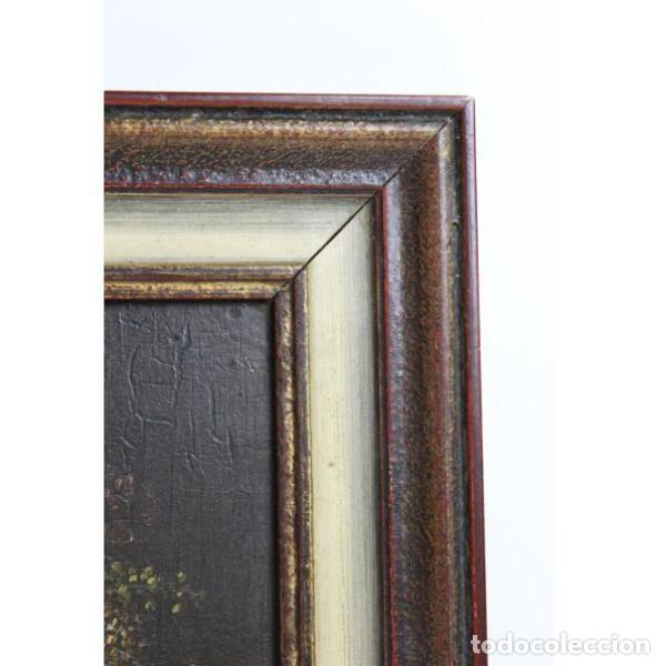 Antigüedades: Antiguo óleo enmarcado - Foto 3 - 153243642
