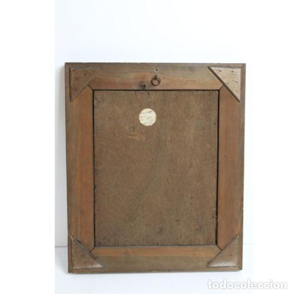 Antigüedades: Antiguo óleo enmarcado - Foto 4 - 153243642