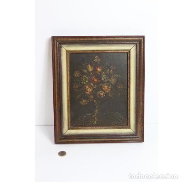 Antigüedades: Antiguo óleo enmarcado - Foto 6 - 153243642