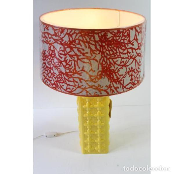 Antigüedades: Antigua lámpara retro vintage manises - Foto 2 - 153244342