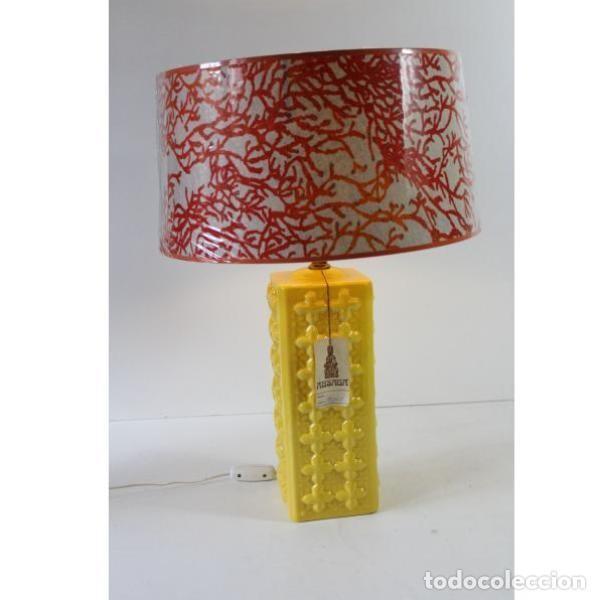 Antigüedades: Antigua lámpara retro vintage manises - Foto 3 - 153244342